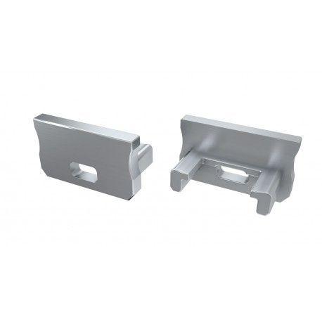 Ender for aluprofil Type A - 2 stk, grå