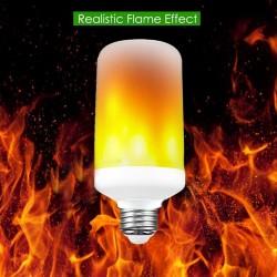 E27 LED 4W LED pære - med flamme effekt, E27