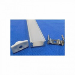 V-Tac Alu-profil til LED Stripe - 1 meter, mattert