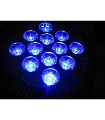LED vekstlys, 12W, E27, Ren blå, Grow lamp