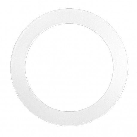 Forstørrelsesring - Hull: Ø7,6 cm, Mål: 9,5 cm, matt hvit
