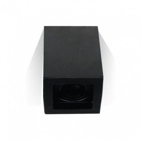 V-Tac taklampe - Firkantet, svart, IP20, GU10 fatning, uten lyskilde