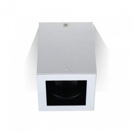 V-Tac taklampe - Firkantet, hvit, IP20, GU10 fatning, uten lyskilde