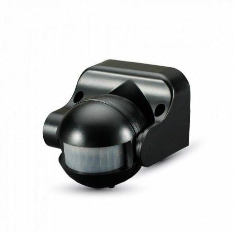 V-Tac bevegelsessensor - LED venlig, svart, PIR infrarød, IP44 utendørs
