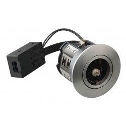 Baderomsbelysning LEDlife Inno88 - MR16, børstet stål, IP44, direkte i isolasjon
