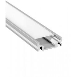 V-Tac aluprofil til LED stripe - 1 meter, mattert