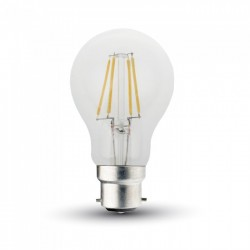 B22 LED V-Tac 5W LED krone pære - karbon filameter, B22
