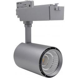 Skinnesystem LED Restsalg: LEDlife skinnespot 30W - Flott design, farge: sølv/ svart