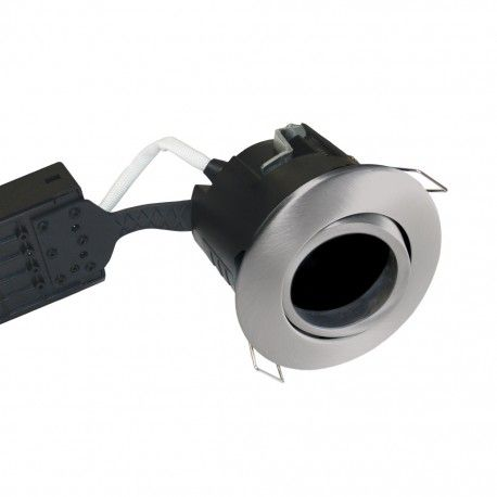 Nordtronic downlight - Børstet stål, IP44, utendørs