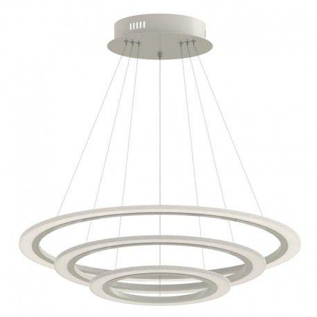 V-Tac 70W dimbar lysekrone med 3 ringen - Soft lys, Ø60 cm