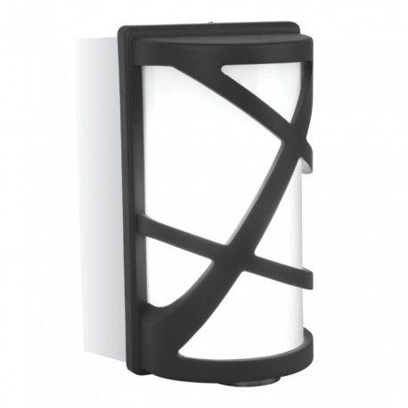 V-Tac svart vegglampe - IP54 utendørs, E27 fatning, uten lyskilde