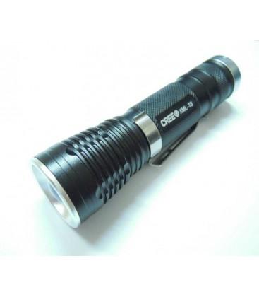 LED lykte med zoom, op til 1000 lumens, 5 funksjoner, mørk grå