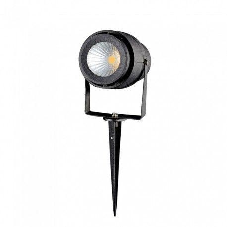 V-Tac 12W LED hage lampe - Svart, med spyd, IP65, 230V