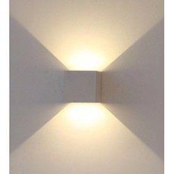 Vegglamper V-Tac 6W LED grå vegglampe - Firkantet, justerbar spredning, IP65 utendørs, 230V, inkl. lyskilde