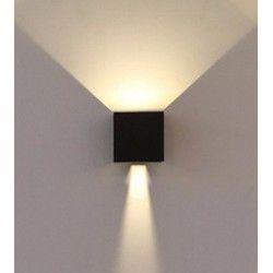 Utendørs vegglampe V-Tac 6W LED svart vegglampe - Firkantet, justerbar spredning, IP65 utendørs, 230V, inkl. lyskilde