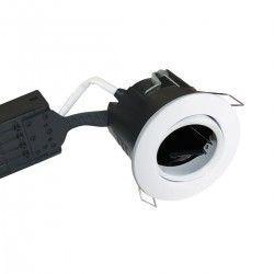 Baderomsbelysning Nordtronic Uni Install downlight - Matt hvit, IP44, rett-i-isolasjon