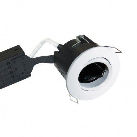 Nordtronic Uni Install downlight - Matt hvit, IP44, rett-i-isolasjon