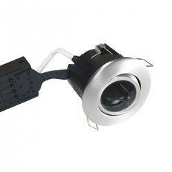 Baderomsbelysning Nordtronic Uni Install downlight - Børstet alu, IP44, rett-i-isolasjon