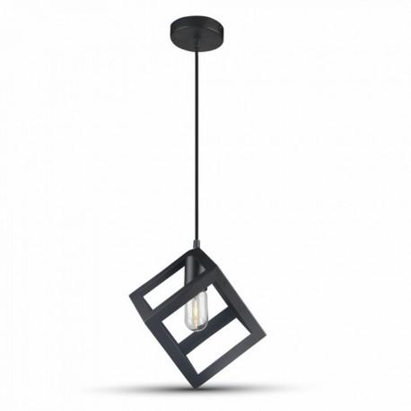 V-Tac geometrisk pendellampe - svart farge, E27