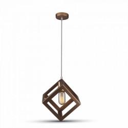 LED pendel V-Tac geometrisk pendellampe - champagne/gull farge, kvadrat, E27