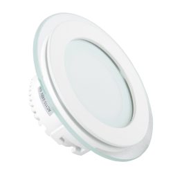 V-Tac 6W LED glass downlight - Hull: Ø7,5 cm, Mål: Ø10 cm, 230V
