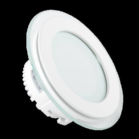 V-Tac 6W LED glass downlight - Hull: Ø7,5 cm, Mål: Ø10 cm, 230V