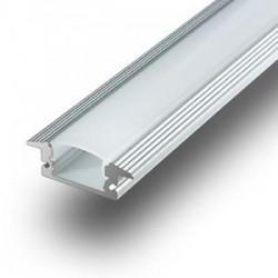 V-Tac innfelt aluprofil til LED stripe - 1 meter, mattert