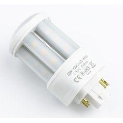 G24 LED GX24Q LED pære - 5W, 360°, mattert