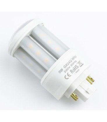 GX24Q LED pære - 5W, 360°, mattert