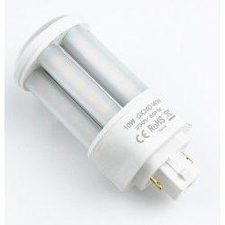 G24 LED GX24D LED pære - 10W, 360°, mattert