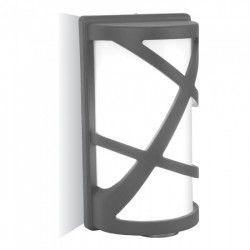 V-Tac mørk grå vegglampe - IP54, E27 fatning