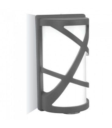 V-Tac grå vegglampe - IP54 utendørs, E27 fatning, uten lyskilde