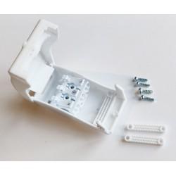 Transformator Samleboks med quickconnector - 3-pol, strekkavlaster, hvit