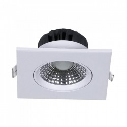 LED downlights V-Tac 5W LED downlight - Hull: Ø7,5 cm, Mål: 9x9 cm, innebygd driver, 230V