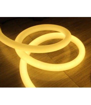 Varm hvit D16 Neon Flex LED - 8W per meter, IP67, 230V