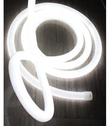 D16 Neon Flex LED - 8W per meter, kald hvit, IP67, 230V