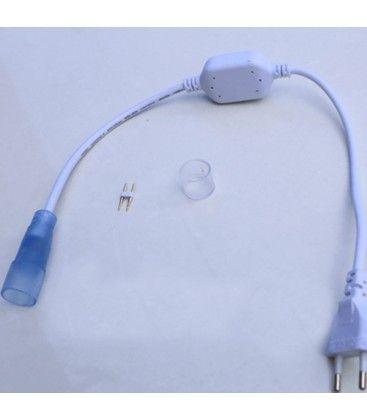 D16 stik til Neon Flex LED - Inkl. endestykke, IP67, 230V