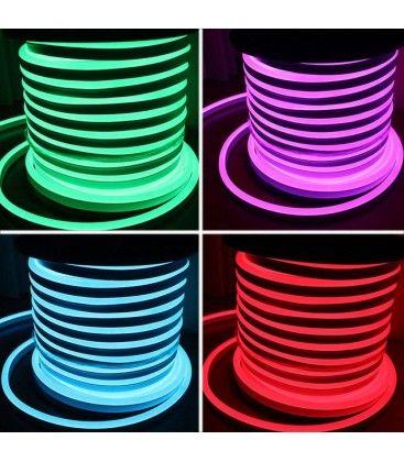 8x16 Neon Flex LED - 18W per meter, rgb, IP67, 230V
