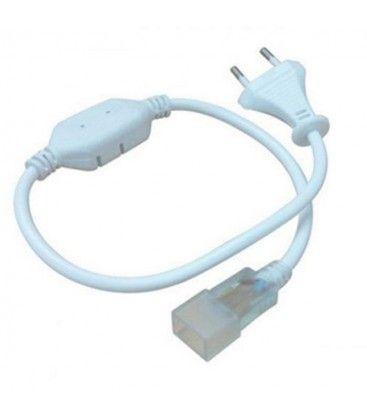 Plugg til 8x16 Neon Flex LED - Inkl. endestykke, IP67, 230V
