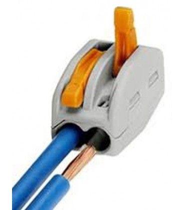 Skrueløs kabelskjøter til 2 ledninger