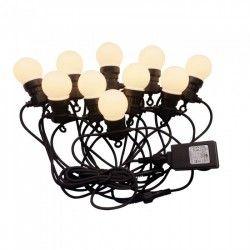 V-Tac LED lyskæde med 10 stk. 0,5W pærer - 5 meter, IP44, 230V