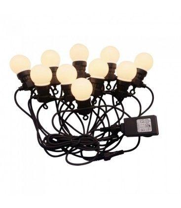 V-Tac LED lysslynge med 20 stk. 0,5W pærer - 10 meter, IP44, 230V, inkl. lyskilde