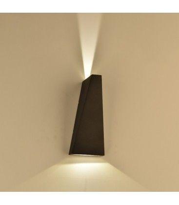 V-Tac 6W LED svart vegglampe - Justerbar spredning, IP65 utendørs, 230V, inkl. lyskilde