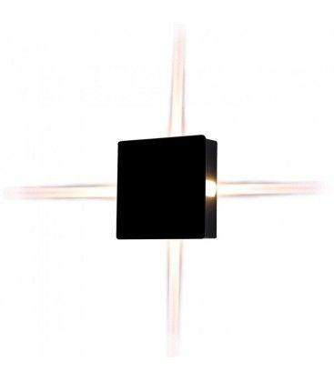 V-Tac 4W LED svart vegglampe - Firkantet, IP65 utendørs, 230V, inkl. lyskilde
