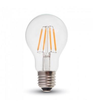 V-Tac 6W LED pære - Samsung LED chip, Karbon filamenter, A60, E27
