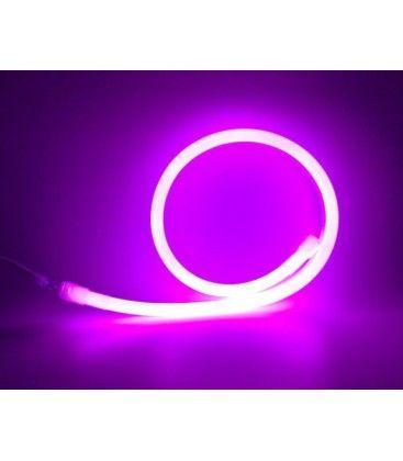 D16 Neon Flex LED - 8W per meter, lilla og rosa, IP67, 230V