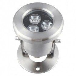 Lyskastere 8W LED lyskaster - Varm hvit, IP68, 100% vanntett, Rustfri, 12V