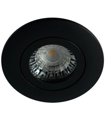 Daxtor Alu line downlight - Svart, til utendørs med GU10 plast spacer
