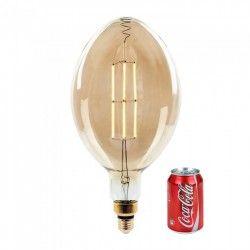 E27 LED V-Tac 8W LED kjempe globepære - Karbon filamenter, Ø18 cm, dimbar, ekstra varm hvit, 2200K, E27