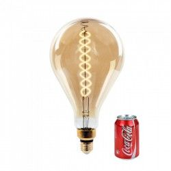 E27 Globe LED pærer V-Tac 8W LED kjempe globepære - Karbon filamenter, Ø16 cm, dimbar, ekstra varm hvit, 2200K, E27